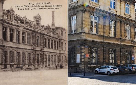 Rue de la Grosse Écritoire, l'arrière de l'Hôtel de Ville