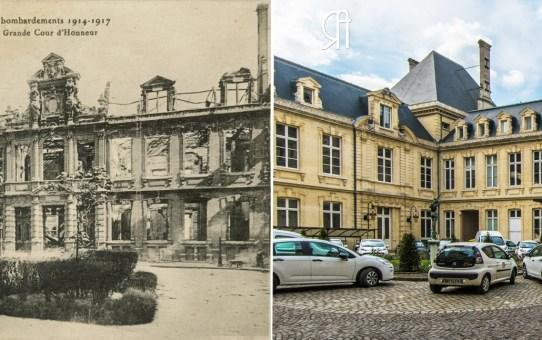 La Cour d'Honneur de l'Hôtel de Ville en 1917