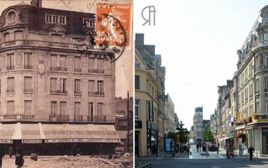 La rue Condorcet pendant la Reconstruction