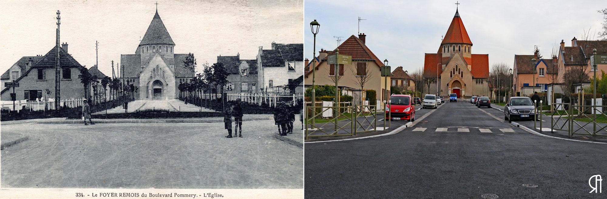 L'Avenue de la Marne et l'Église Saint-Nicaise