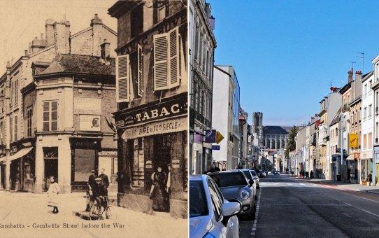 La rue Gambetta avant la Grande Guerre