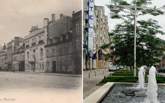 La rue Buirette avant la fontaine Subé
