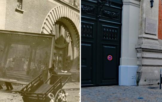 Le 3 mai 1917, 13 h : sauvetage des tableaux de l'Hôtel de Ville pendant l'incendie