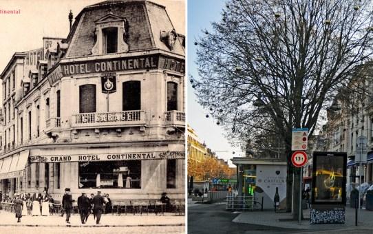 L'Hôtel Continental et la place d'Erlon en 1906