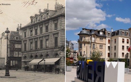 L'ancienne Chambre des Notaires, place de l'Hôtel de Ville (3 époques)
