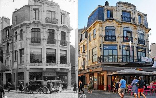 Place d'Erlon, angle de la rue Théodore Dubois et le la rue Marx Dormoy