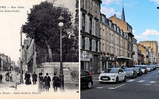 Avant la Grande Guerre, l'avenue Jean-Jaurès