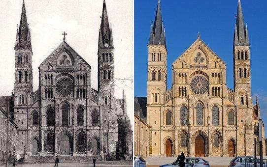 Zoom sur la Basilique Saint-Remi et la rue Fléchambault
