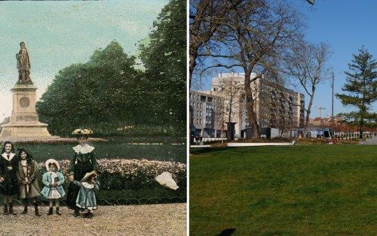 Le square Colbert et les enfants du début du XXe siècle