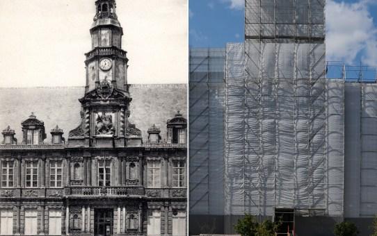 L'Hôtel de Ville : restauration de cette partie du bâtiment classée au titre des monuments historiques en 1862