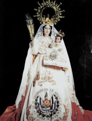 Resultado de imagen de imagen de la virgen de la paz el salvador
