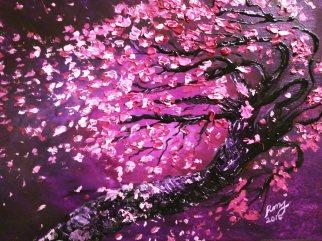 Acrylic on Canvas, Cherry on Stormy Night, $105.00