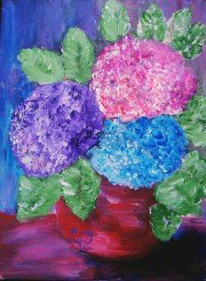 Hydrangeas, size: 12x16,$75