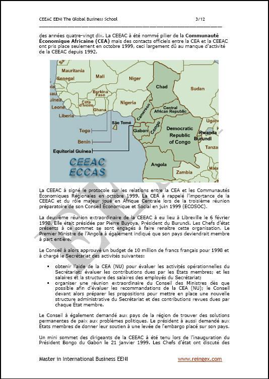 ECCAS África Central