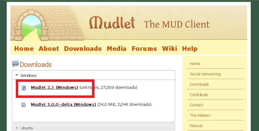 Cómo instalar Mudlet - Paso 1
