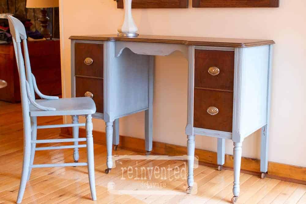 1940's Vanity Reinvented as a Desk reinventeddelaware.com
