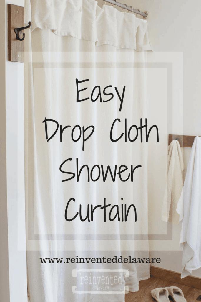Easy Drop Cloth Shower Curtain