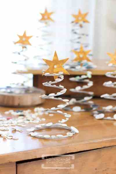 Boxspring Button Christmas Trees | Easy Way to Transform Boxsprings