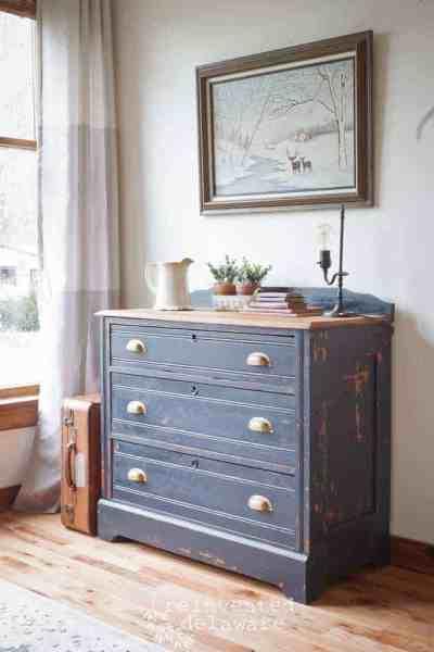Antique Dresser Transformed with Artissimo Milk Paint