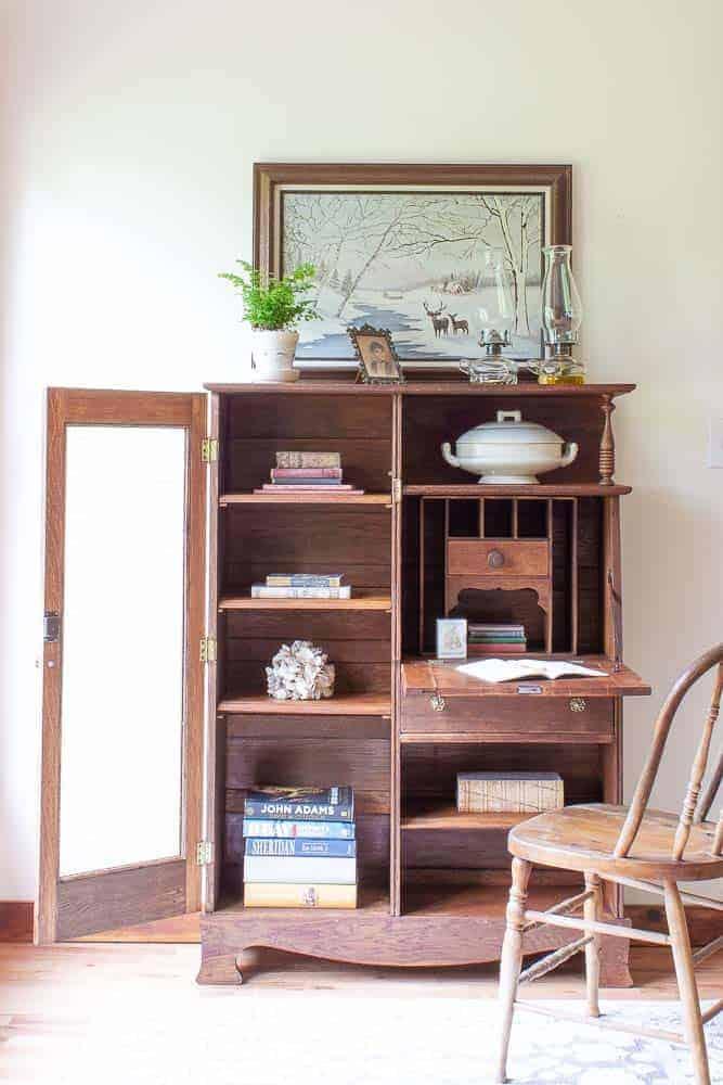 restored vintage side by side secretary desk
