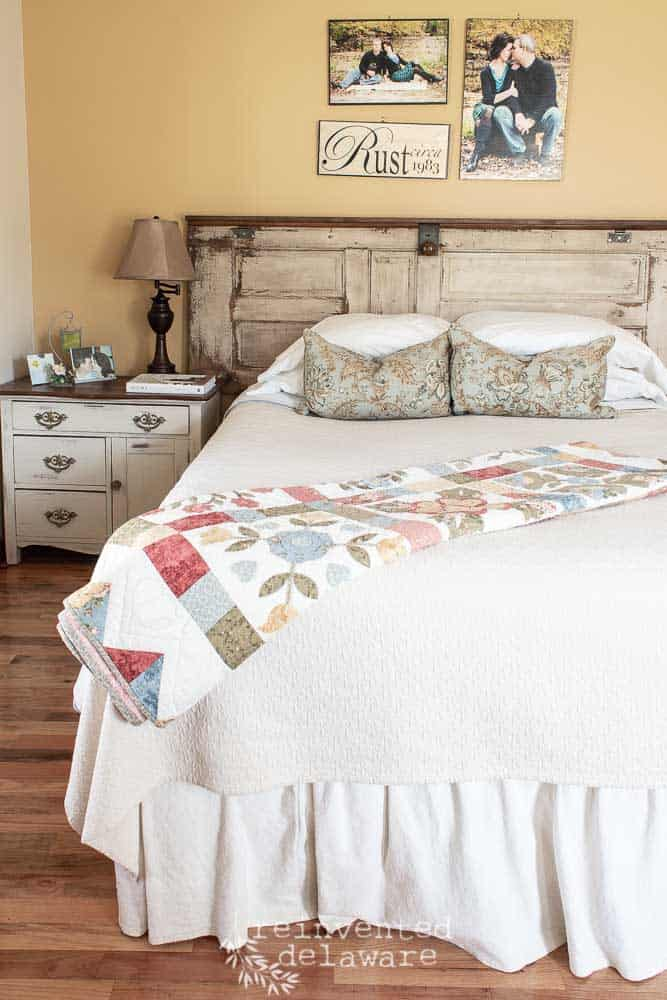bed made with cotton sheets from Red Land Cotton close up of pillows