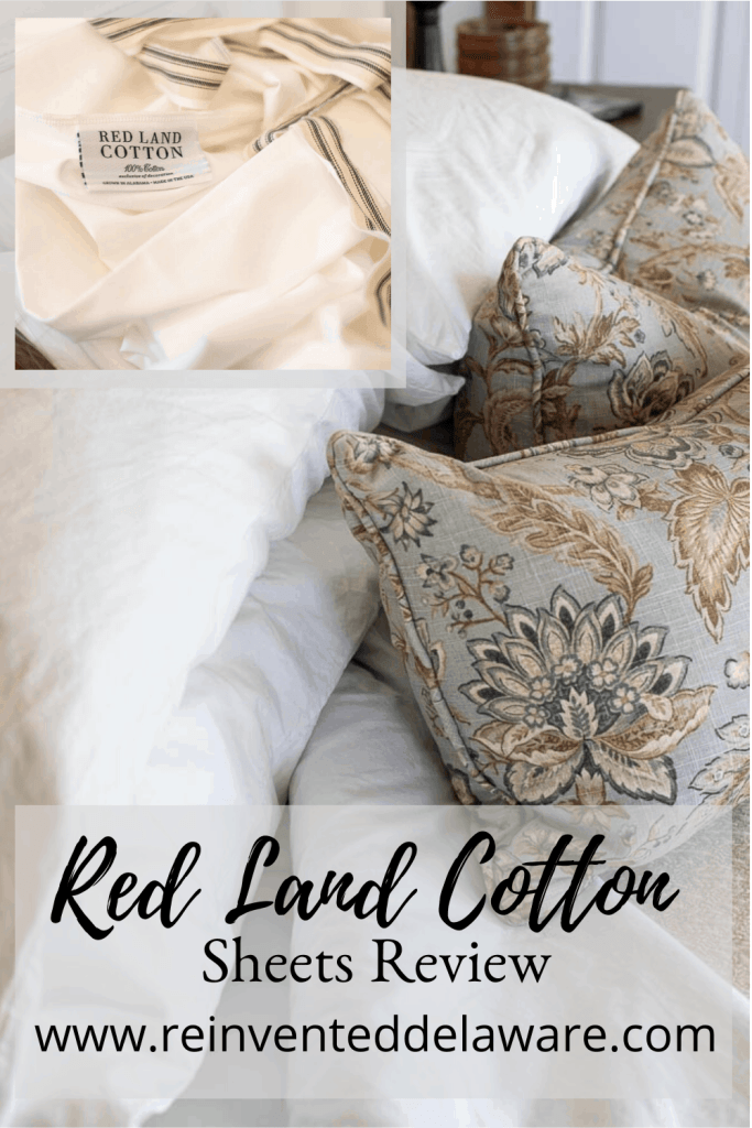 pinterest graphic showing cotton sheets from Red Land Cotton