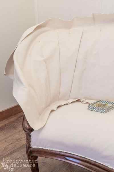 Reupholstery Tutorial | Antique Settee