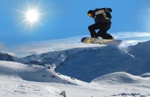 Ski und Snowboarden