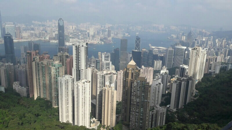 Blick vom Victoria Peak auf Hong Kong