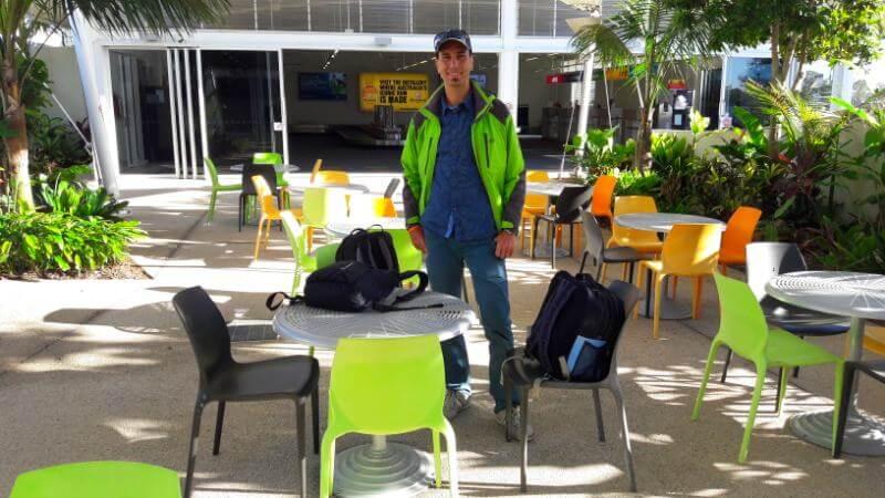 Wartebereich Flughafen Bundaberg
