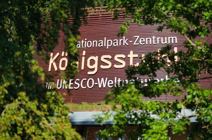 Kreidefelsen Rügen: bezoekerscentrum Königsstuhl