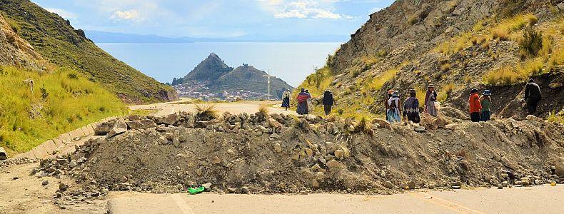 Strassensperre in Bolivien