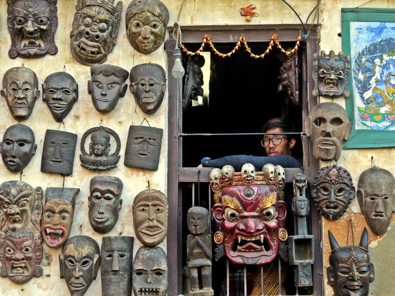 Die Freak Street in Kathmandu
