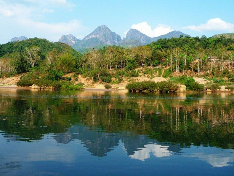 Die vergangene Seele des Flusses Nam Ou