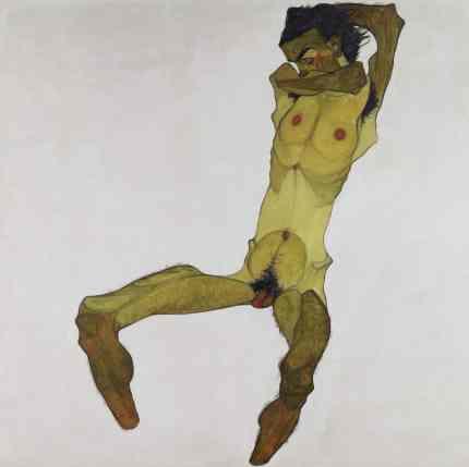 Egon Schiele: Sitzender Männerakt (Selbstdarstellung), 1910