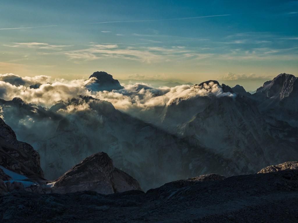 Bergpanorama vom Triglav aus