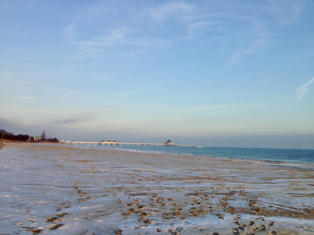 De Oostzee in Heringsdorf in de winter