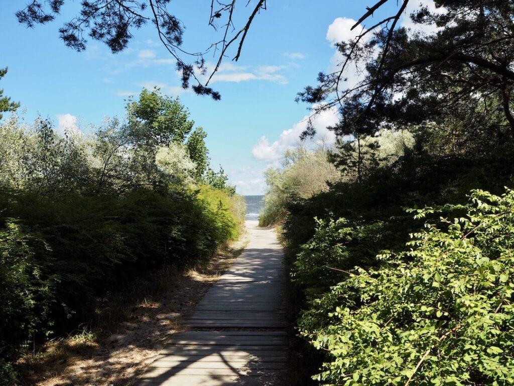Vanaf de zee: strandopkomst op Usedom