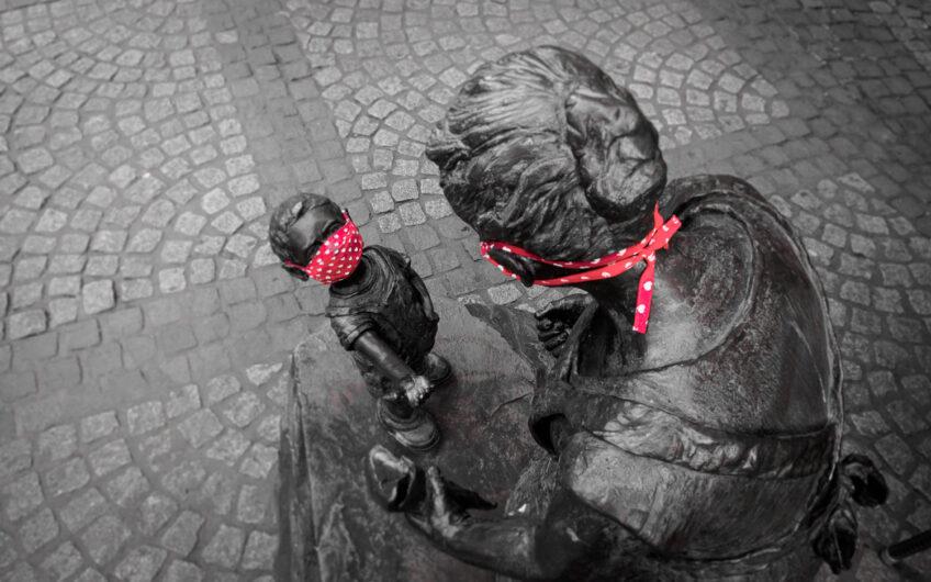 Beelden met maskers in Boppard