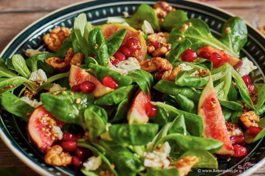 Wintersalat mit Senfvinaigrette und Feigen 3