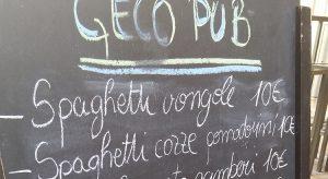 Geco Pub Speisekarte (Foto: Reisekompass)