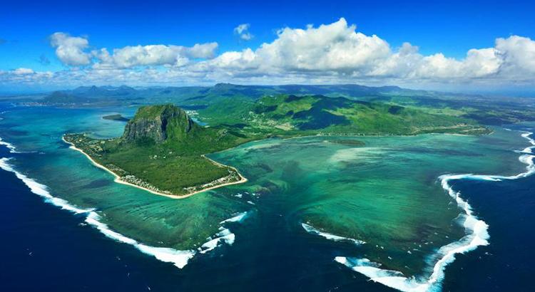 Blick auf Mauritius
