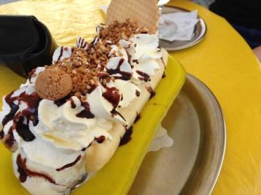 Da werden Kindheitserinnerung wach: Bananensplit
