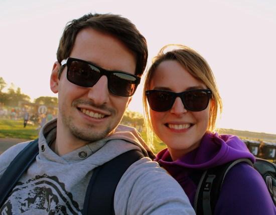 Die Reisekraniche das sind wir, Maike und Björn in Berlin Tempelhof
