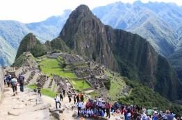 Machu Picchu die weltbekannte Inka-Stadt, eines der neuen Weltwunder in Peru, Ruinenstadt, Cusco, UNESCO, Huayna, Massentourismus