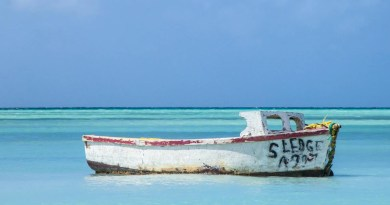 Aruba Karibik altes Boot im Meer