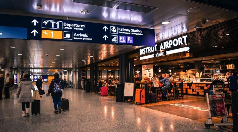 Szene in Flughafen