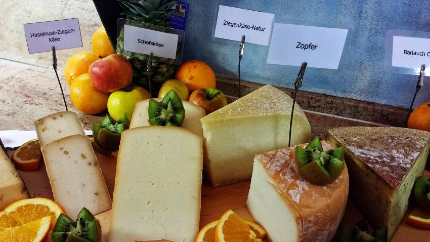Regionale Käsespezialitäten. Ganz mein Fall und sehr abwechslungsreich.
