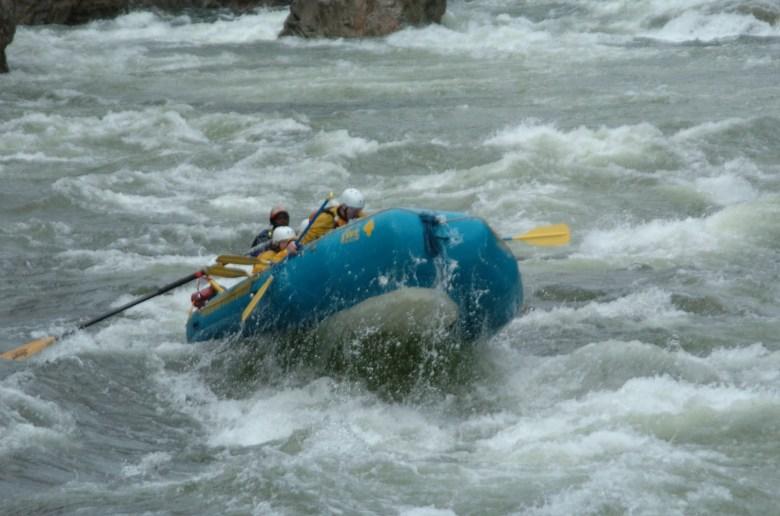 Da waren wir noch allein unterwegs...Rafting in Kanada