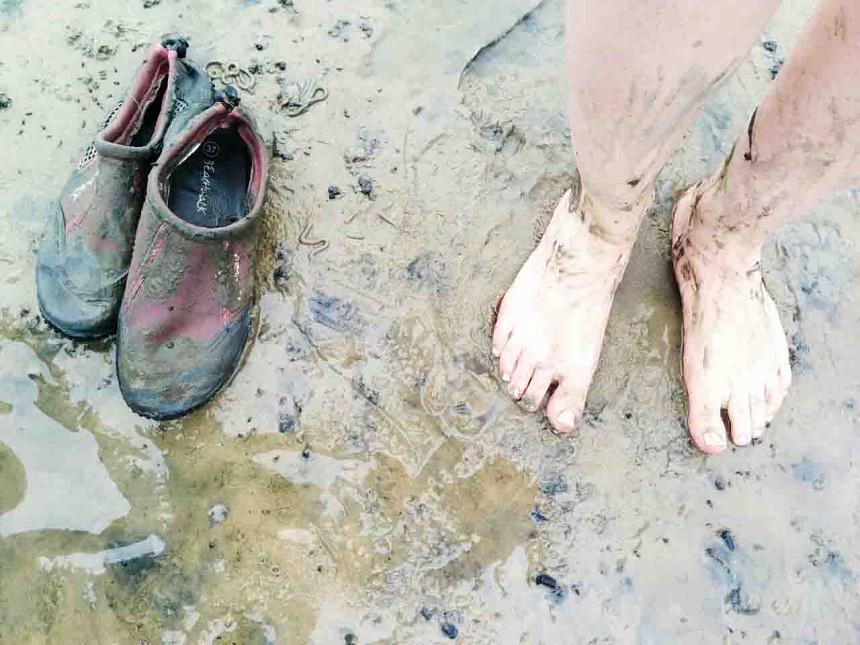 Platt und schmutzig, aber wieder einmal beeindruckt vom Welterbe Wattenmeer!